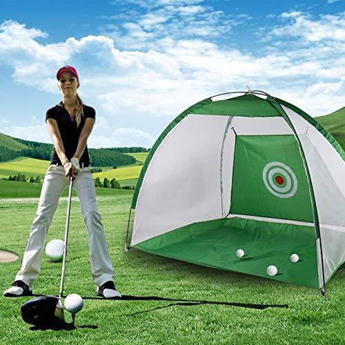 FGHGFCFFGHポータブル軽量屋内折りたたみ式2メートルゴルフ打撃ケージ練習ネットトレーナートレーニングエイドマット付きキャリングバッグ   B07L2YKPYZ