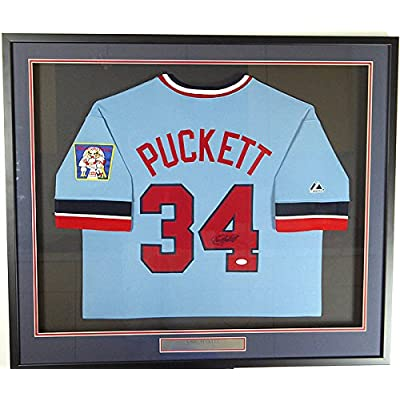 95f2f63b772 Kirby Puckett Signed Autograph Framed Majestic Cooperstown Minnesota Twins  Jersey - JSA Certified