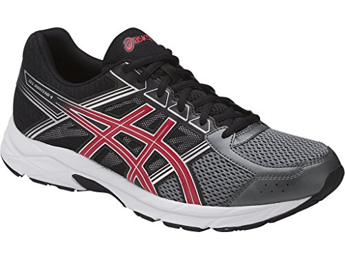 ASICS Men's Gel-Contend 4 Running Shoe, Carbon/Classic Red/Black, 10 Medium US Classic Performance Cross Trainer