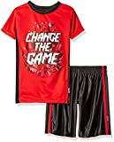 Spalding Little Boys' Athletic Sleeve Tee and Short Set, Red Game, 4