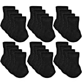 Chair Socks, Outgeek 24 Pack Knitted Furniture Feet Socks Chair Leg Floor Protectors (Black)