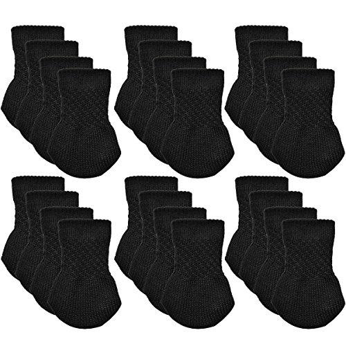 Companion Dining Chair - Furniture Socks, Outgeek 24 Pack Knitted Furniture Feet Socks Chair Leg Floor Protectors (Black)