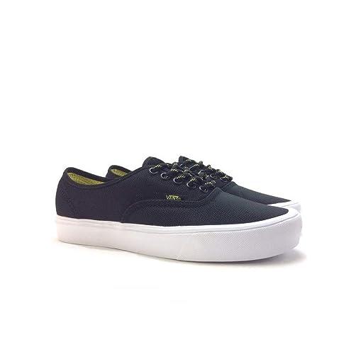 e09b502ea1 Vans Unisex Authentic Lite (Ballistic) Black Celery Sneakers - 10 UK India