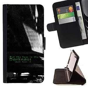 BullDog Case - FOR/Sony Xperia Z1 L39 / - / darkness black white fear inspiring /- Monedero de cuero de la PU Llevar cubierta de la caja con el ID Credit Card Slots Flip funda de cuer