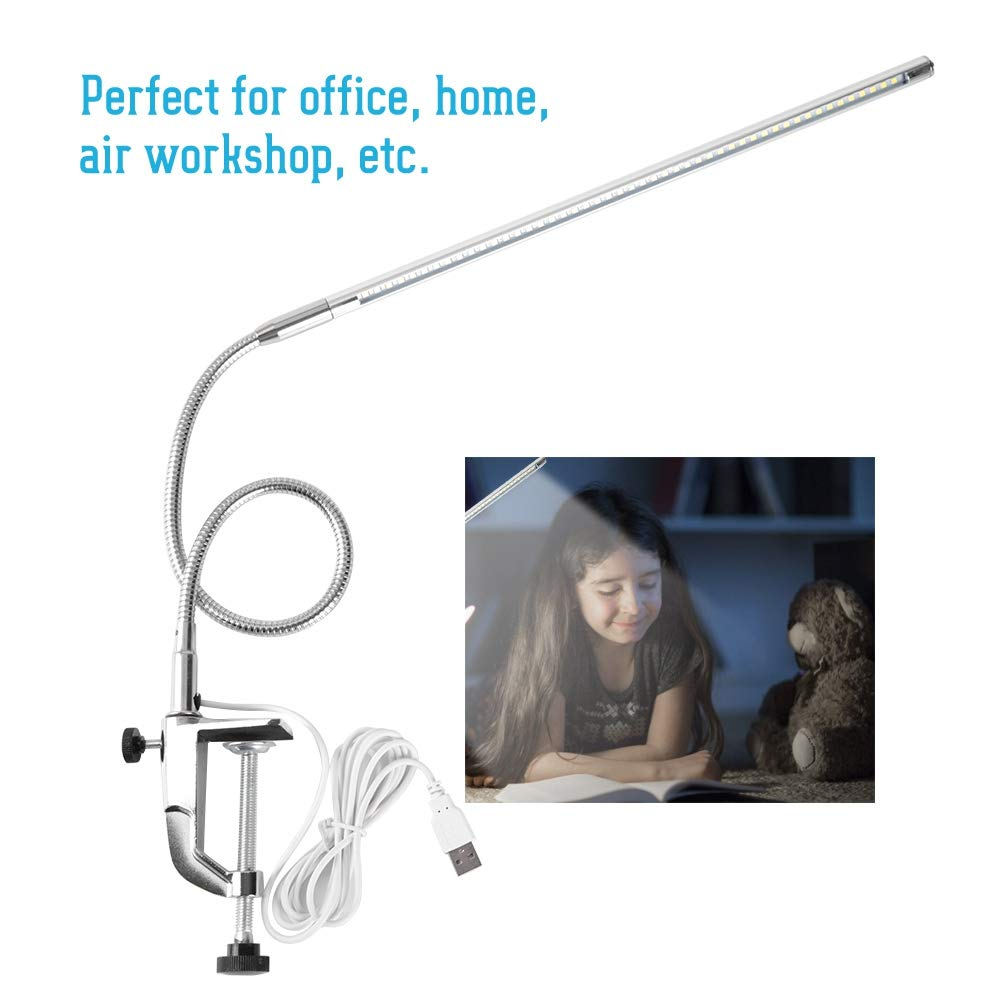 LED Desk Lamp LED Desk Lamp Clamp On LED Table Light USB Adjustable Direction and Brightness Clip Eye-caring Table Lamps for Eyebrow//Tattoo//Manicure//Eyelash Extension USB Clamp Desk Lamp
