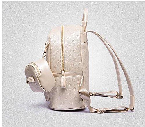 Meaeo Neuen Handtasche Lingge Rucksack Rucksack Bag Lady Mutter, Beige Beige