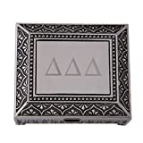 Delta Delta Delta Engraved Pin Box Sorority Greek Decorative Trinket Case Great for Rings, Badges, Jewelry Etc. tri Delta (Vintage Footed Pin Box)