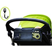 Stroller Organizer / Stroller Cup Holder With Bonus Stroller Hook