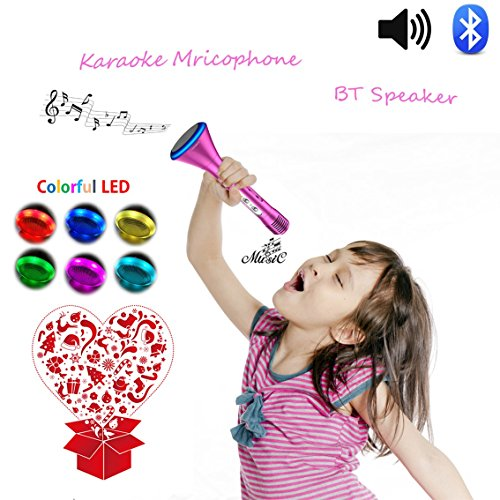 KOMVOX Karaoke Microphone For Kids Girls Toddlers Best Top Toys, Bluetooth Handheld Singing Machine for Little Girls Gifts 4 5 6 Years Old, Creative Girls Gift For Birthday Party (Princess Disney Keyboard)