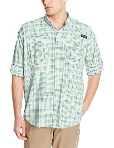 Columbia Mens Super Bahama Long Sleeve Shirt, Sunlit Multi Plaid, X-Large
