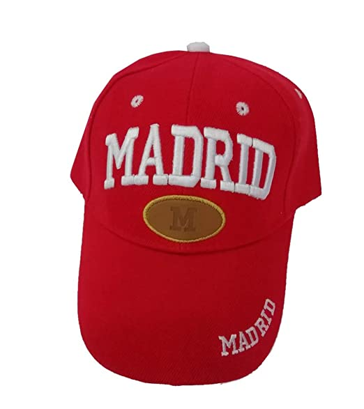 ZiNGS Gorra Madrid Unisex - Rojo: Amazon.es: Ropa y accesorios