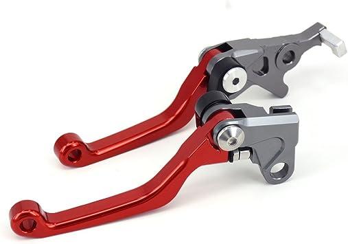 Fast Pro Motorbike Billet Pivot Foldable Clutch Brake Lever For Honda CRF250L CRF250M 12-15 Red