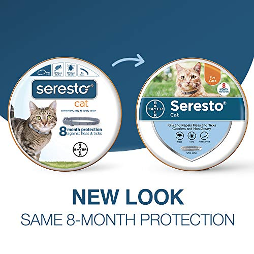 Seresto flea collar for cats, 8-month flea and tick prevention for cats 10 weeks of age and older