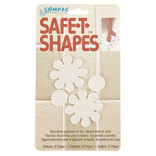 Safe-T-Shapes White Daisy Non-Slip Safety Applique Stickers - Bath, Tub & Shower by Compac