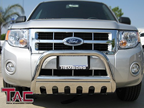 TAC 04-14 FORD F150 (Excl. Raptor, Ecoboost, 04 Heritage Edition) 03-13 FORD EXPEDITION BULL BAR Stainless Steel Bumper Brush Guard (Ford Steel Drill Stainless)
