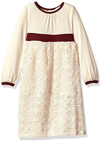 Burt's Bees Baby Girl's Toddler, Long Short Sleeve Dresses, 100% Organic Cotton, Winter Wool, 4T (Wool Skirt One Button)