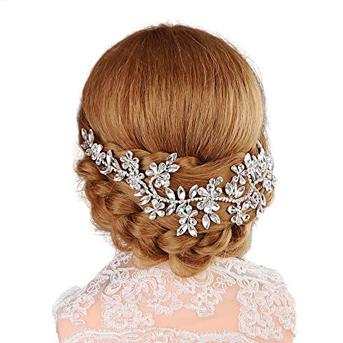 Top Queen Wedding Accessories Bridal Headpiece Flower Crown Headband Hair Wreath (HP239) ()