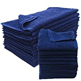 American Terry Mills 12 Dozen 100% Cotton Salon Towels Gym Towels Hand Towel 100% Ring-Spun-Cotton, Maximum Softness, Absorbency & Durability, Navy Blue, 144 Piece