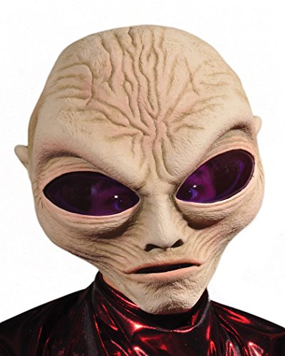 Zagone Grey Alien Mask, Large Eyed Alien Creature, Big Head ()