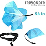Triwonder 56 inch Speed Training Resistance Parachute Running Chute Power (Blue - 56in)