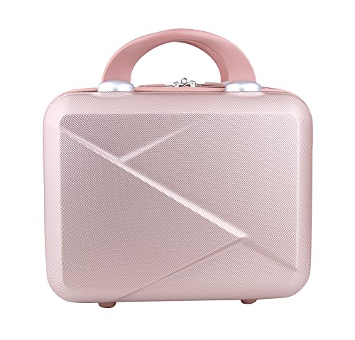 Genda 2Archer Hard Shell Cosmetic Case Mini Hardshell Travel Hand Luggage 14inch (Rose Gold) ()