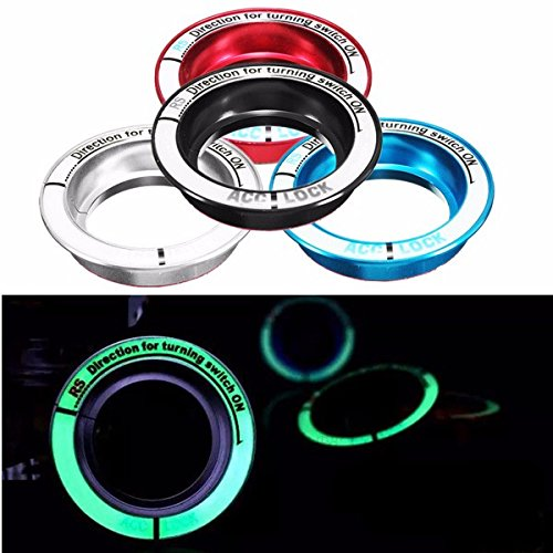 Car Interior Mouldings - Lumino Car Ignition Key Ring Ignition Switch Decoration For Ford Kuga Foc - Lumino Car Key Case Ignition Switch Cover Ring Light Glow Dark Covers - - Phone Solstice Number