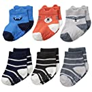 Carter's Baby-Boys Character Face Socks, Multi, 0-3/Medium Months (Pack of 6)