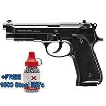Umarex Beretta 92A1 CO2 Full Metal Semi/Full Auto Blowback Airgun Black W/FREE 1500 .177 BB