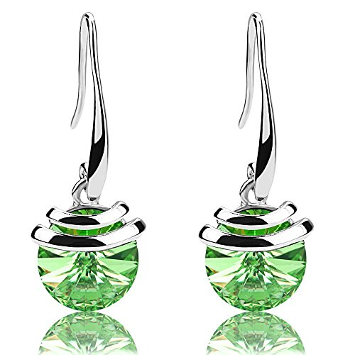 Crystal French Wire Dangle Drop Earrings (Green) ()
