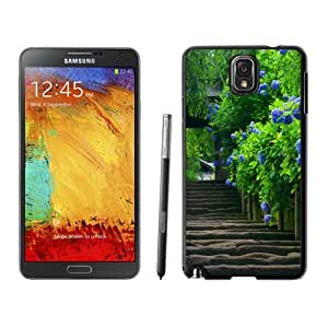 NEW Unique Custom Designed Samsung Galaxy Note 3 N900A N900V N900P N900T Phone Case With Purple Peony_Black Phone Case