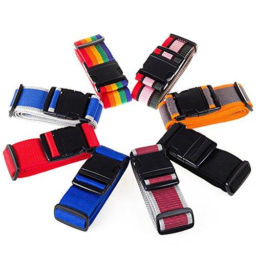 2x Luggage Straps, Adjustable Suitcase Strap Belts Travel Tag Bag For 20-32