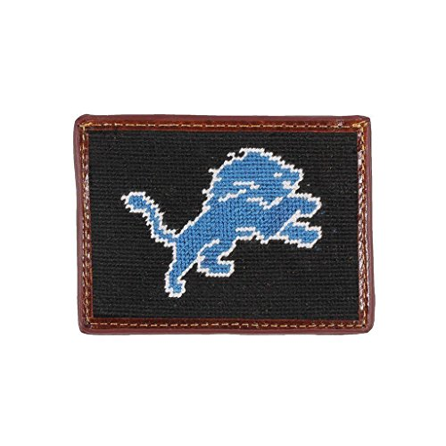 Detroit Lions Needlepoint Credit Card Wallet by Smathers & Branson