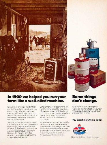 1978-ad-standard-oil-amoco-fuel-harness-oil-eureka-lubricant-advertisement-horse-original-print-ad