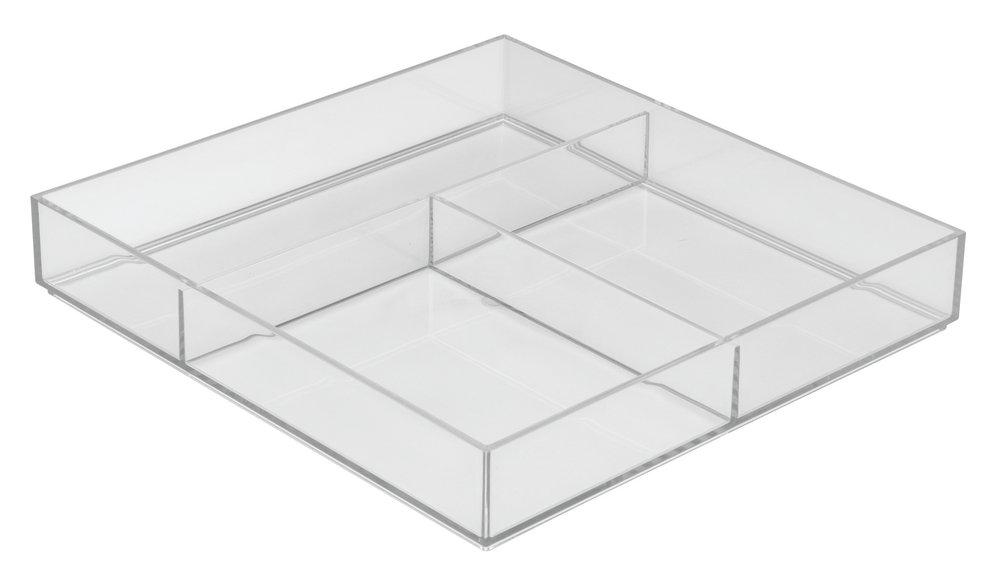 InterDesign Clarity Kitchen Drawer Organizer for Silverware, Spatulas, Gadgets - 12