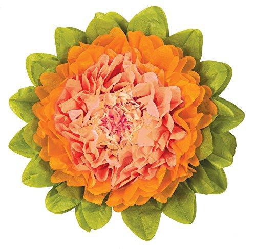 luna-bazaar-medium-tissue-paper-flower-10-inch-cantaloupe-orange-mango-orange