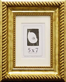 product image for Frame USA Napolean Series 5x7 Accented Composite Wood Frames (Antique Gold)