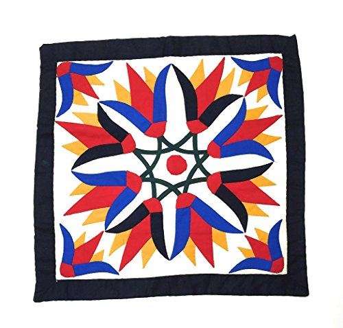 - Ayuni Gifts of the World Hand-Sewn Applique Cotton Throw Pillow Cushion Covers Made in Egypt