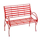 Cape Craftsmen Red Swirl Picnic Outdoor Safe Iron Garden Bench For Sale
