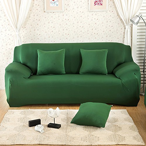 East Eagle Stretch Couch Sofa Lounge Cover Slipcover Protector 1/2/3 Seater (2 Seater, Green)