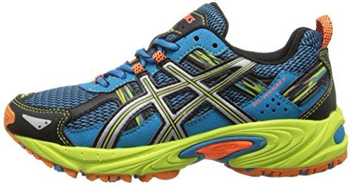 ASICS Gel Venture 5 GS Trail Running Shoe (Little Kid/Big Kid), Turquoise/Silver/Lime, 1.5 M US Little Kid