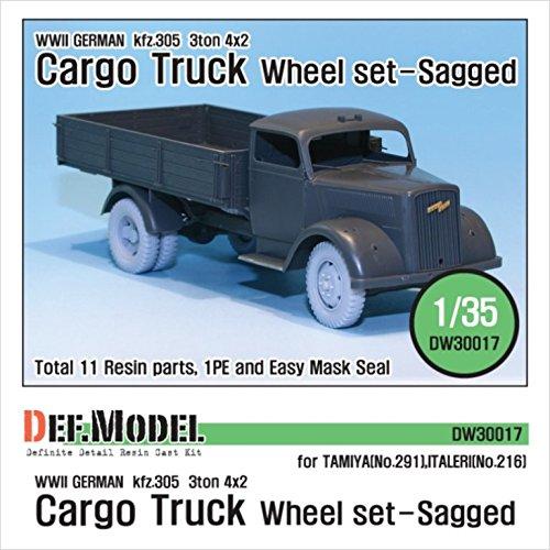DEF Model 1:35 WW2 German 3t Cargo Opel Truck Wheel set Tamiya/Italeri (Opel Drum Brake)