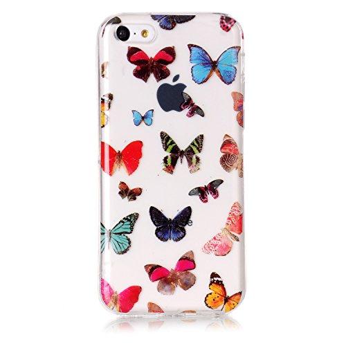 """Hülle iPhone 6 Plus / 6S Plus , LH Bunt Schmetterling TPU Weich Muschel Tasche Schutzhülle Silikon Handyhülle Schale Cover Case Gehäuse für Apple iPhone 6 Plus / 6S Plus 5.5"""""""
