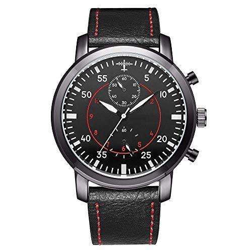 BEWITCHYU Practical Wristwatches Men 's Casual Fashion Glass Stainless Steel Quartz Movement Belt Sports Waterproof Pin Buckle Watch Decorative Watch BraceletBlack