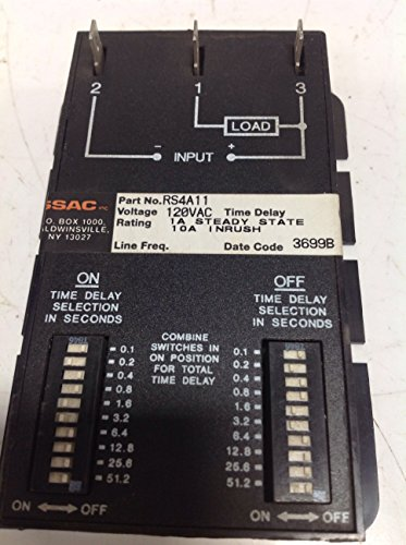 Timer Solid Ssac State (SSAC RS4A11 TIMER TIME DELAY SOLID STATE 120V-AC 10A AMP 0.1-102.3SEC D287767)