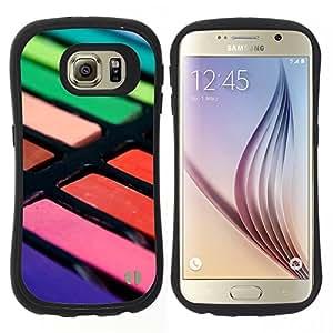 """Hypernova Slim Fit Dual Barniz Protector Caso Case Funda Para Samsung Galaxy S6 [Pintor Artista colores en colores pastel""""]"""