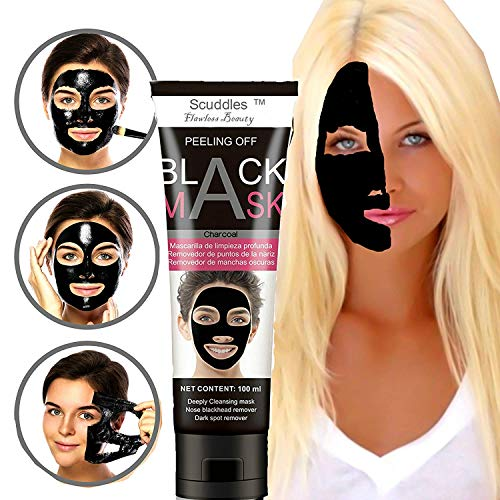Black Head Remover Mask - Charcoal Purifying Blackhead Remover Mask Deep Cleansing for Acne & Acne Scars, Blemishes, Anti-Aging, Wrinkles, Organic Activated Charcoal