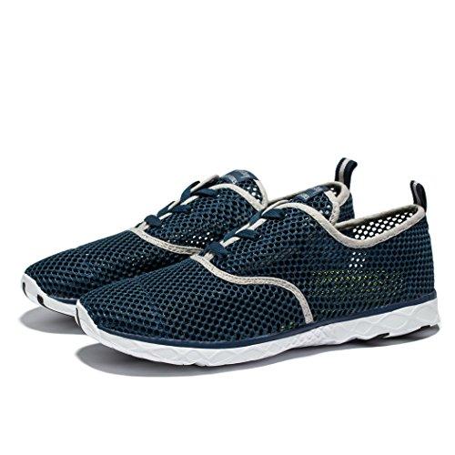 Herten Heren Water Sneakers Outdoor Beach Atletische Veterschoenen In Lichtgewicht, Blauw-wit