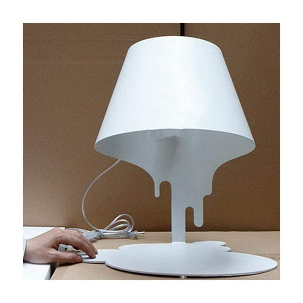 Modern, Minimalist, Dumping Paint Bucket LED Desk Lamp, Dumping Paint Bucket Glass LED Nightlight with Full Iron Made Lamp Body for Bedroom, Living Room, Decoration, Gift Protect Eyes by Gal