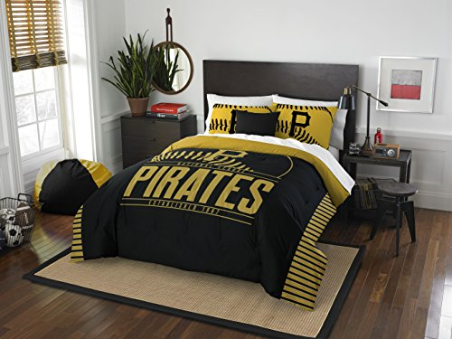 Officially Licensed MLB Pittsburgh Pirates Grandslam Full/Queen Comforter and 2 Sham Set