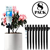 DCZTELG Plant Waterer Spikes Devices System Automatic Irrigation for Indoor and Outdoor Your Flower Potted Plants Black 8Pack (Black8)